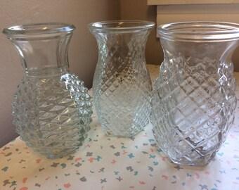 Hooiser Clear Glass Vases - Set of 3
