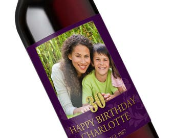 30th Birthday Party Decorations, 30th Birthday for Him, 30th Birthday Present, 30th Birthday Gift Idea, 30th Birthday Wine Label