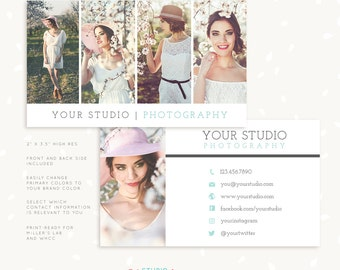 Photography Business Card Template, Photoshop Template, Photo Business Cards, Photography Marketing, Gallery Business Card for Photographers