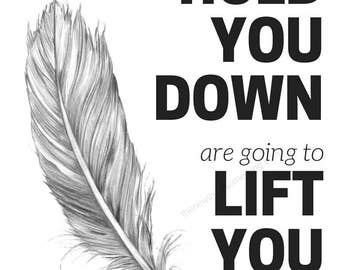 Lift You Up | Dumbo Quote | Disney Inspiration | Motivational Saying | 8x10 Downloadable Print