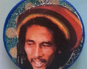 Bob Marley Decoupage Pendant