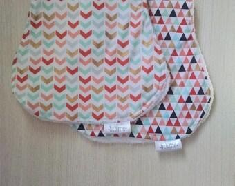 Contoured Burp Cloth / Terry Cloth / Shimmer