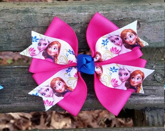 Frozen Pink Hair Bow (4 inch)