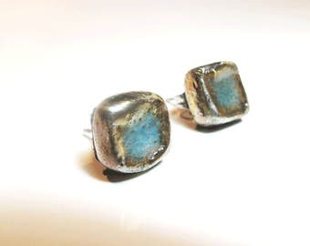 Raku earrings studs