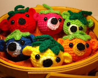 "Crochet ""Bearies."" Toy bear balls."