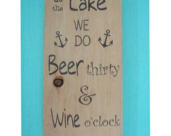 Lake rules sign -  Lake house sign - Lake house decor - Wood lake house sign - Rustic lake sign - Beach sign -  Lake wall decor