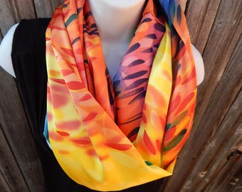 Multi Color Brushstroke Infinity Scarf