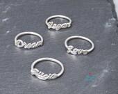 Name Ring Name Word Ring | Silver Name personalized Ring | Nombre personalizado anillo | Silver name | Handmade Name | Anillo Nombre