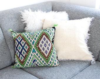 Kilim Pillow 'Green Melange'