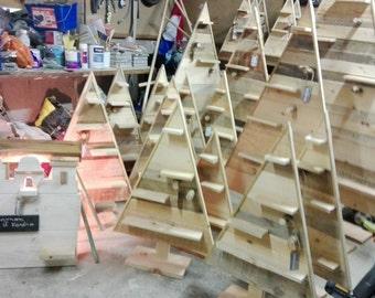 Sapin de Hiver en bois rustique!90cm