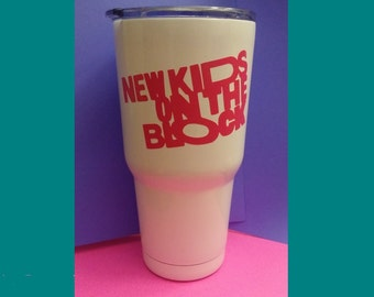New Kids On The Block - NKOTB - Insulated Hot/Cold Metal Tumbler with Vinyl Decal - New Kids Mug - New Kids - Hangin Tough