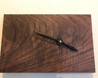 Wall Clock, Minimalist Walnut Wall Clock, Wood Clock