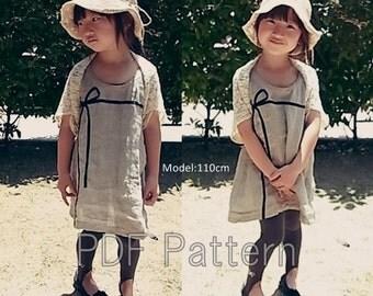 Marguerite boleroマーガレットSS-LL(重ねがき)kids-ladies pdf sewing pattern