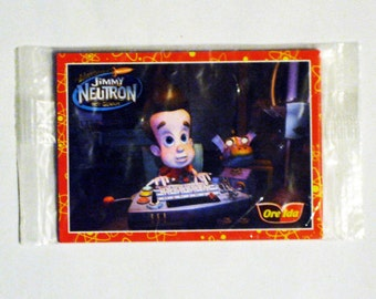 "Vintage original (unopened package) -Nickelodeon ""the Adventures of Jimmy Neutron"" Ore-Ida Card(s)"
