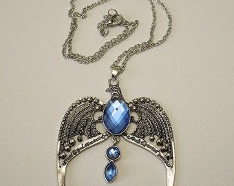 Rowena Ravenclaw Diadem Horcrux  / HARRY POTTER / Antique Silver Pendant Necklace