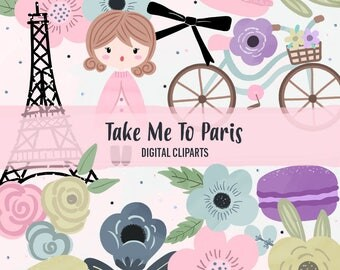 Take Me To Paris Digital Cliparts