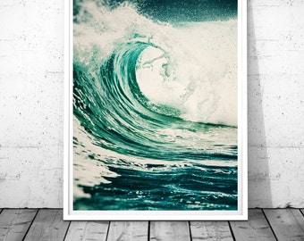 Ocean Print, Sea Wall Art, Ocean Printable, Ocean Printable Art, Ocean Wave Print, Wave Wall Art, Wave Printable, Sea Print, Sea poster