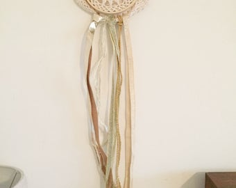 Gold Dreamcatcher - Wall Hanging - Hoop Art