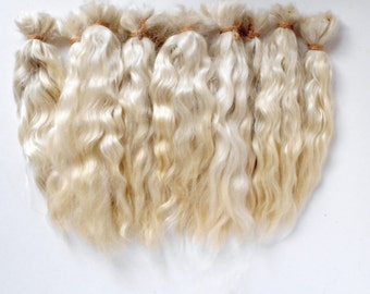 Doll Hair Mohair,Premium,Goat curls for dolls, curls for doll hair, doll hair,goat locks
