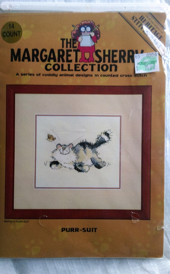 "Margaret Sherry Collection ""PURR SUIT""  Counted Cross Stitch Kit /  Heritage Stitchcraft"