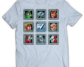 Mega Man 2 Robot Masters T-shirt