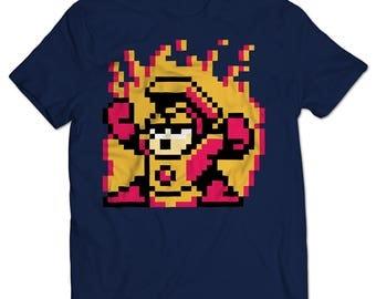 Mega Man 2 Heat Man T-shirt