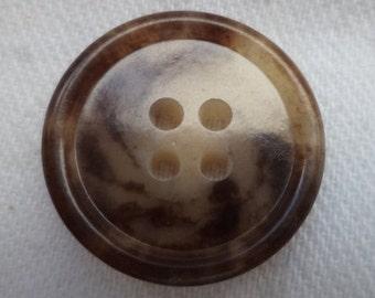 7 dark brown buttons 19mm (221) button Brown