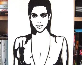 Kim Kardashian West painting stencil