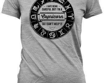 Funny Birthday Shirt Capricorn Birthday TShirt Birthday Present Astrology Gifts I'm A Capricorn So I Can't Help It Mens Ladies Tee DAT-476