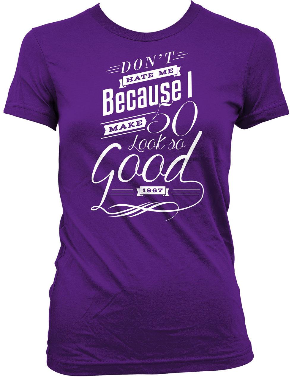 50th birthday gifts for women 50th birthday t shirt custom for Single order custom t shirts