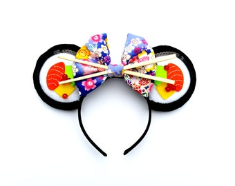 Sushi Roll Mouse Ears // Mouse Ear Headband