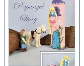 The Rapunzel Story Hand Knitting Pattern, Knits & Pieces Knitting Pattern , Toy knitting pattern, Doll  toy pattern KP 24