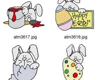 Easter-Bunny-Peekers ( 7 Machine Embroidery Designs from ATW ) XYZ17C