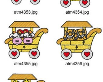 Noahs-Ark-Train-2 ( 5 Machine Embroidery Designs from ATW ) XYZ17D
