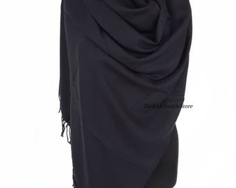 Black Cashmere Pashmina Scarf Black Cashmere Shawl Black Cashmere Wrap Black Cashmere Scarf Bridesmaids Gift Wedding Shawl Bridesmaid Shawl