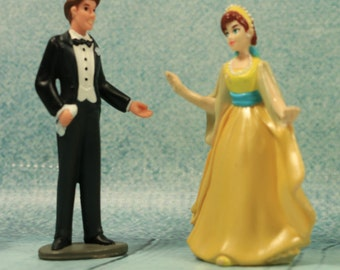 Vintage Anastasia Figures Possible cake toppers wedding
