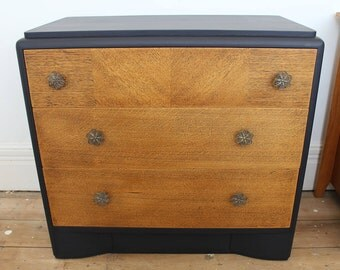 Three drawer vintage Bescraft chest, upcycled, hand-painted.