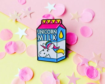 Unicorn Milk Lapel Pin
