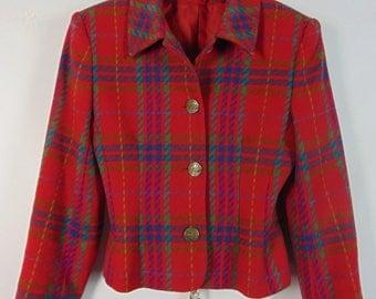 Vintage Red Tartan Jacket