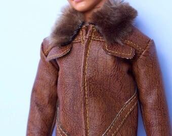 Barbie clothes - Ken leather jacket