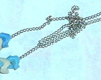 "NECKLACE  BLUE - 7-3/4"" CHAIN"