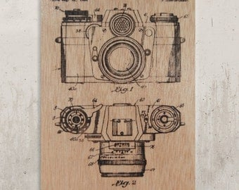 Old Camara - Pattern / / Transfer on wood