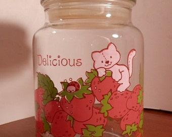 Strawberry Shortcake Jar American Greetings Vintage Jar and Lid