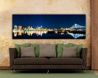 Philadelphia Skyline, Camden, Camden NJ, Delaware River, Camden New Jersey, Philadelphia Canvas, Philadelphia, Philadelphia Art,