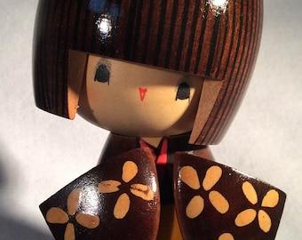 Vintage Japanese Wood Doll, Geisha Girl Kokeshi Doll