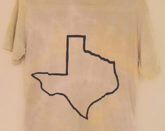 Texas State DIY Grunge Tie Dye Shirt - MEDIUM