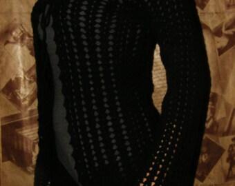 Black knitted bolero