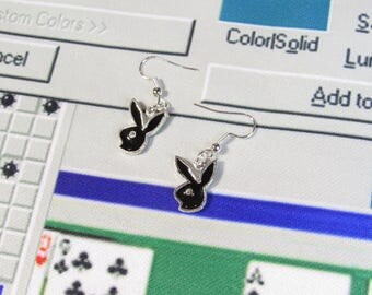 Bunny Earrings : 1 1/2 inches long