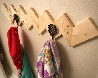 Children's Towel Rack or Coat Rack (Personalization Available)