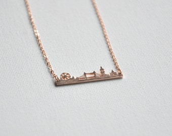 London necklace, London skyline, London eye, Big Ben, British gifts, New england patriots, This is england, Great Britain, Traveler gifts